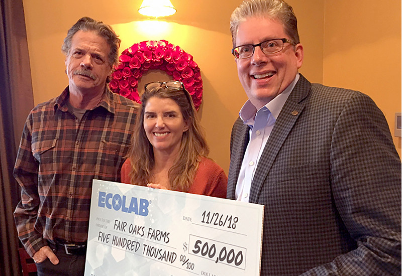 Ecolab Dairy Adventure donation