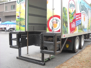 Oakhurst Dairy hybrid truck back lifts