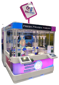 Reis and Irvy's Frozen Yogurt Factory robotic kiosks