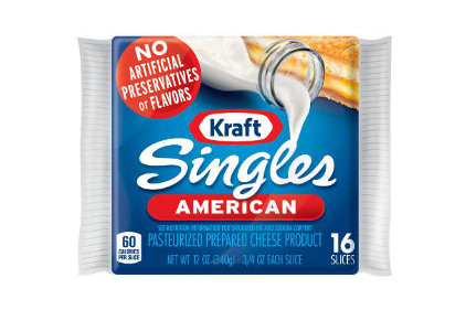 Kraft cheese Singles no preservatives - feature