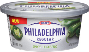 Philadelphia spicy jalapeno cream cheese