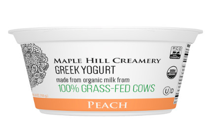 Maple Hill Creamery Greek yogurt peach - feature