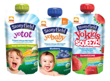 Stonyfield Happy Family Yogurt pouches