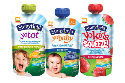 Stonyfield Happy Family Yogurt pouches - feature