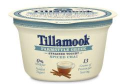 Tillamook Farmstyle Greek yogurt spiced chai