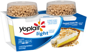 Yoplait Light coconut cream pie