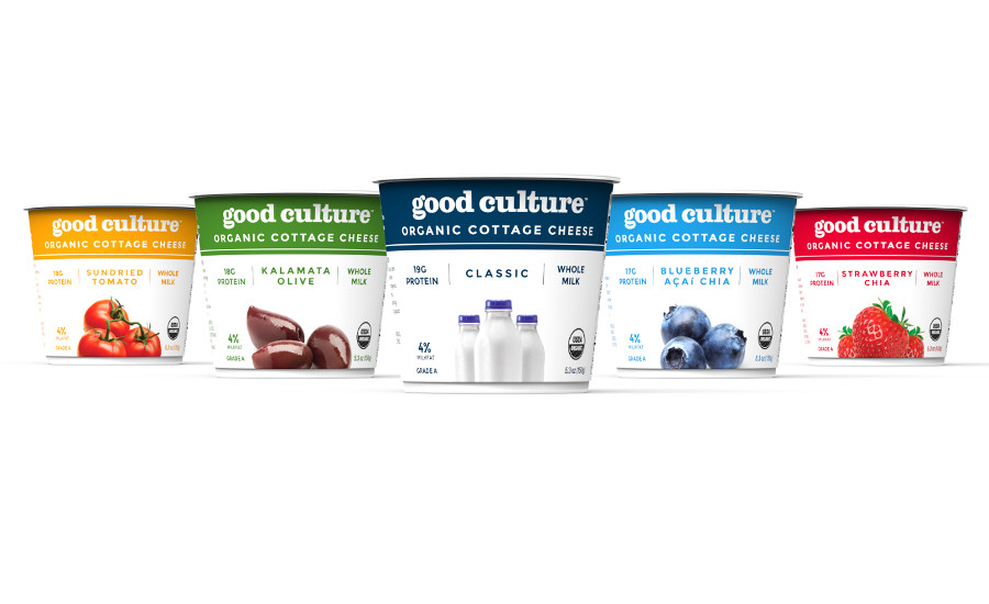 --Good Cultured cottage cheese with new packaging