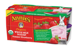 Annie's whole milk, organic yogurt - Strawberry