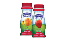 Stonyfield organic smoothie 6oz bottles