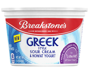 Breakstones Greek style sour cream