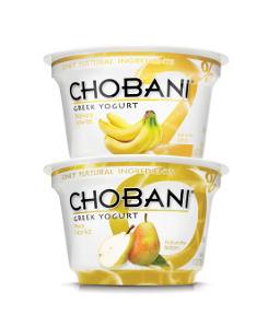 Chobani banana and pear flavor
