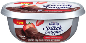 Philadelphia Cream Cheese Snack Delights Dark Chocolate