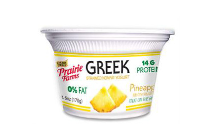 Prairie Farms Pineapple Greek yogurt - feature