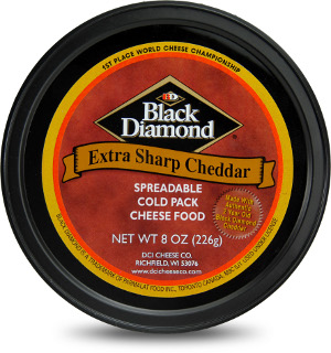 DCI Cheese Black Diamond Extra Sharp Cheddar Cold Pack Spread