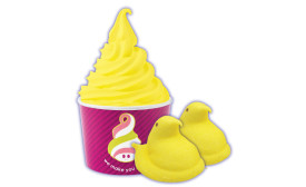 Peeps flavored frozen yogurt from Menchies