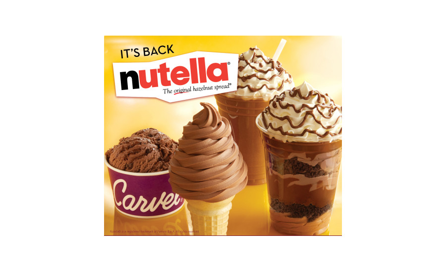 Carvel's Nutella ice cream treats