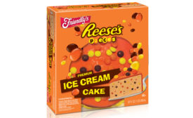Friendly's Reese's Pieces ice cream cake