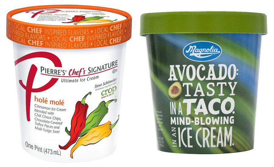 Savory ice cream products from Magnolia and Pierre's