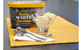 Santa's White Christmas Coffee Ice Cream