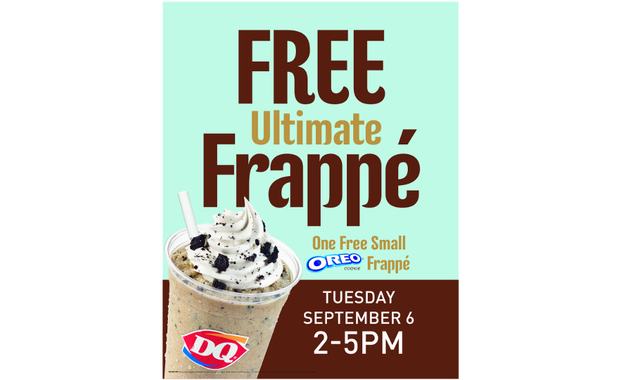 Dairy Queen free Oreo Frappe poster