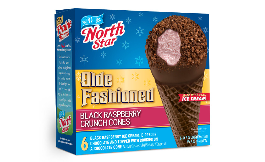 North Star Black Raspberry Crunch Cone