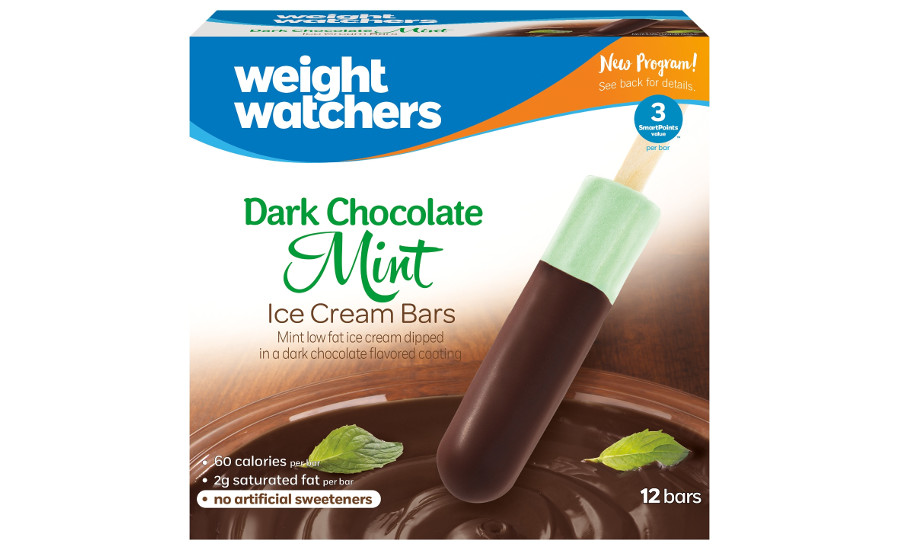 Weight Watchers mint ice cream bars