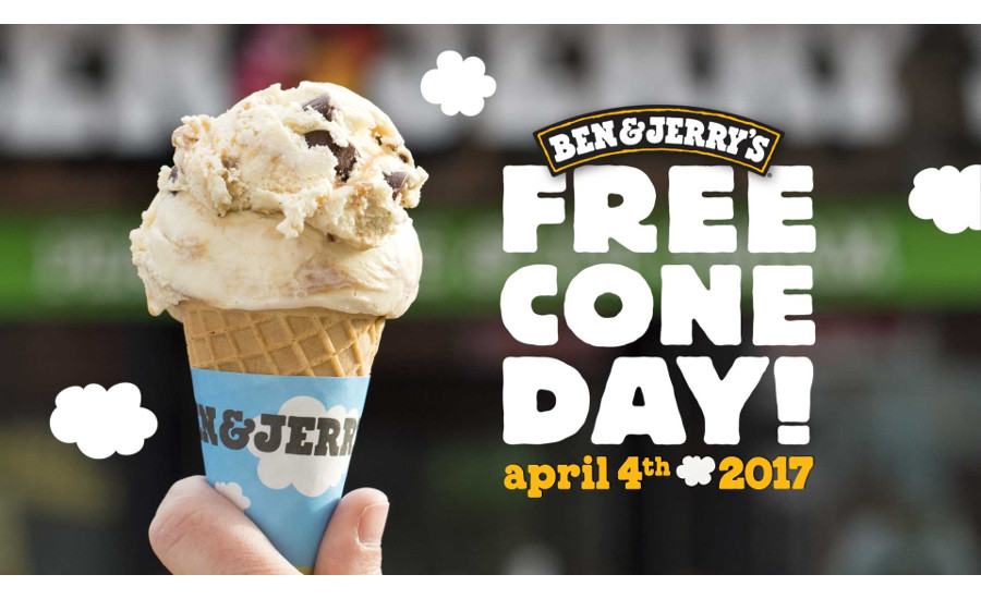Ben & Jerry's free cone day 2017