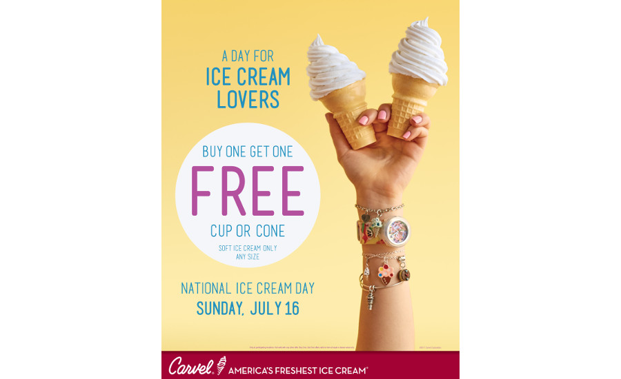 Carvel 2017 BOGO promotion