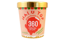 Halo Top gingerbread house ice cream