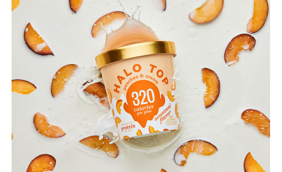 Halo Top peaches and cream ice cream