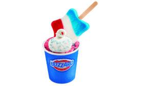Dairy Queen Star Spangled Banner Blizzard treat