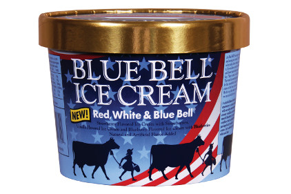 Blue Bell Red, White & Blue Bell ice cream - feature