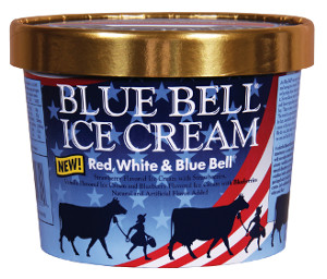 Blue Bell Red, White & Blue Bell ice cream