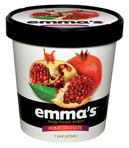 Emmas frozen yogurt pomegranate