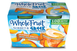 J&J Whole Fruit Greek Frozen Yogurt Mango