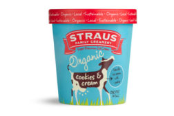Straus Organic ice cream - Cookies and Cream