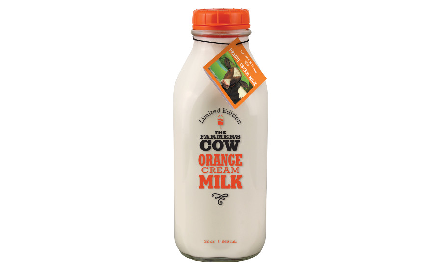 The Farmer's Cow orange cream milk