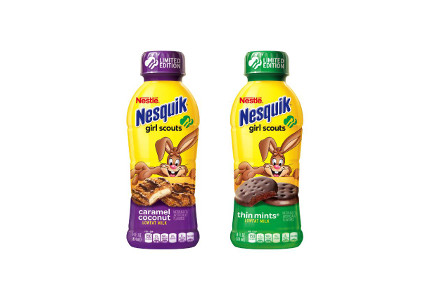 Nesquik Girl Scout Cookie flavors - feature