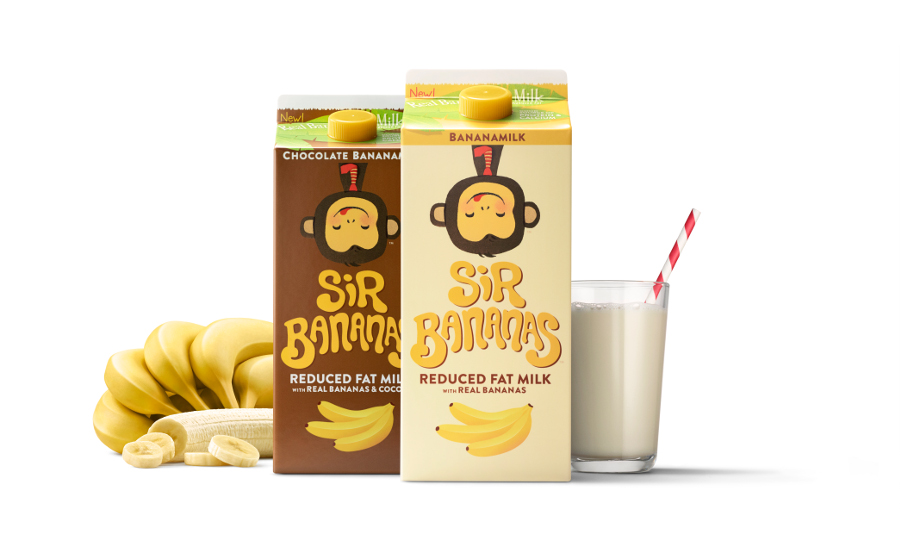 New Dairy Products Sir Bananas Low Fat Banana Flavored