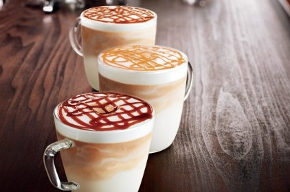 Starbucks lattes feature