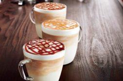 Starbucks trio of lattes