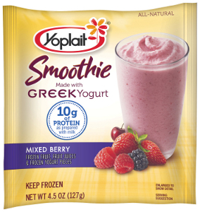 Yoplait Mixed Berry Greek yogurt smoothie