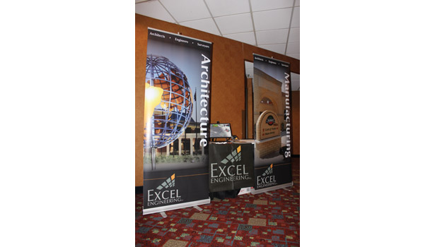 Besides the seminars, the membrane short course event included tabletop exhibits, like this one from Excel Engineering.