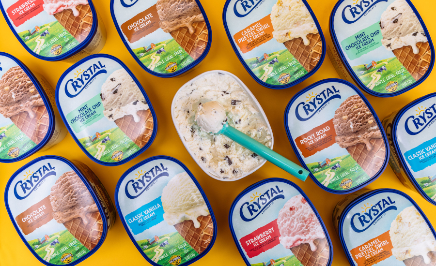 Crystal Creamery reformulated ice cream