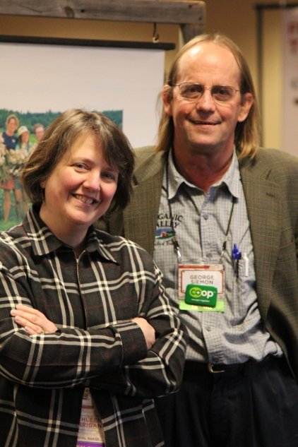 Organic Valley George Siemon with USDA Kathleen Merrigan