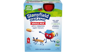 Stonyfield Organic introduces new yogurt pouch flavors