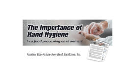 The Importance of Hand Hygiene in a Food Processing Environment