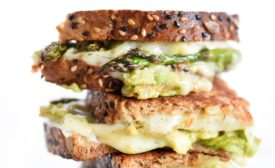 Arla Dill Havarti and avocado national grilled cheese month breakfast sandwich